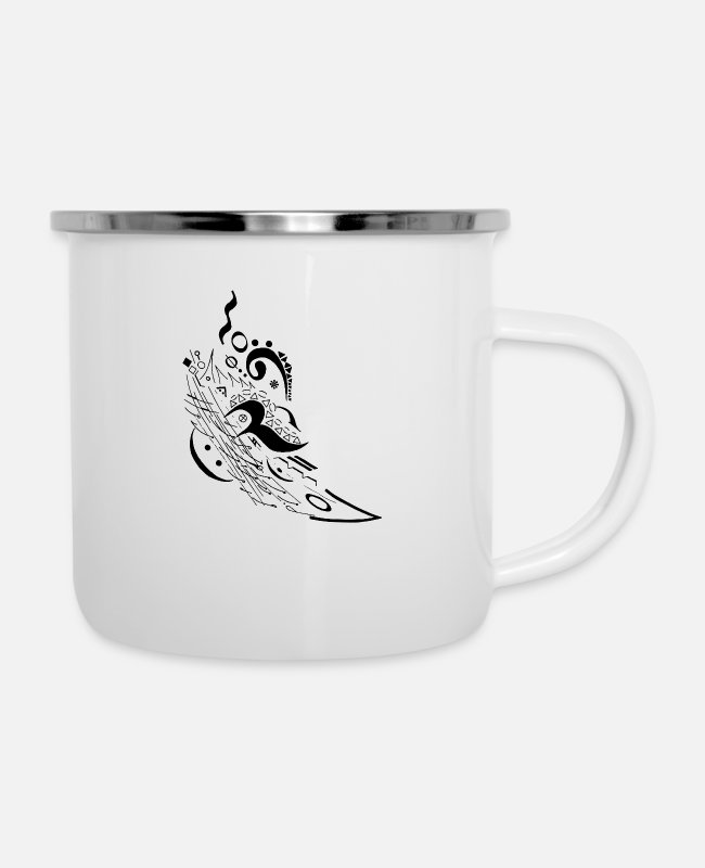 Motion Mugs & Cups - Music Motion - Enamel Mug white