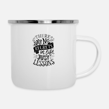 Funny Animals There are no regrets in life funny - Enamel Mug