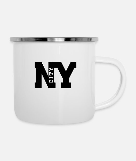 Staaten Mugs & Cups - ny city - Enamel Mug white