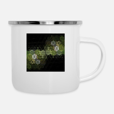 Ethnicity New trendy abstract retro vintage pattern design - Enamel Mug