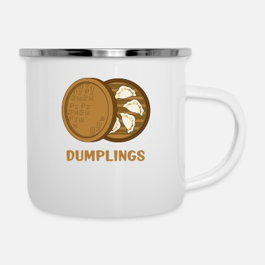 Steam Basket With Dumplings - Enamel Mug