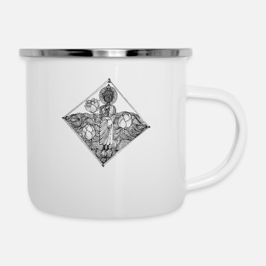 Artist The Lined Design and The vector design. - Enamel Mug