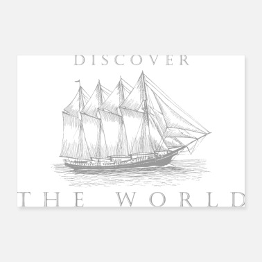 Sailboat Discover the world - Poster