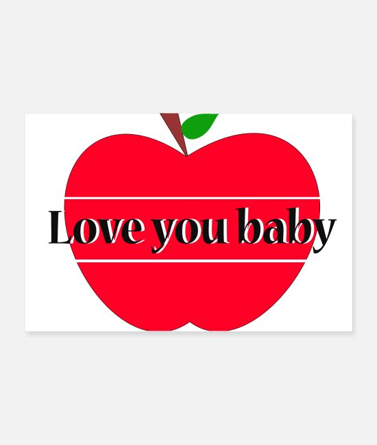 Young Posters - love you baby - Posters white
