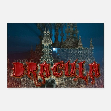 Dracula Dracula's Castle at Night with Moon Beam - Poster