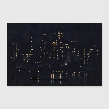 Night Lights of Manhattan - Poster 36x24