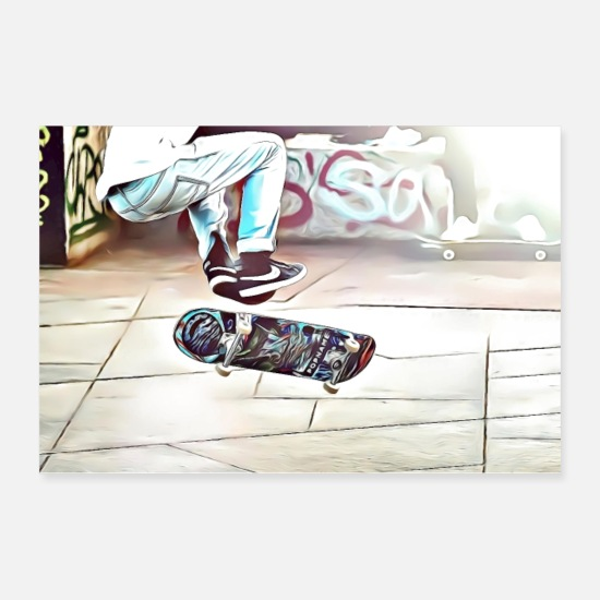 Skateboard Posters - DC 103 Full Color Graffiti - Posters white