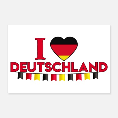 Frankfurt Country I love Deutschland I love Germany Garland - Poster
