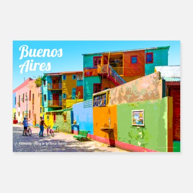 Vintage Buenos Aires Travel Poster - Poster