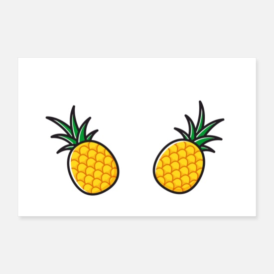 Pineapple Posters - pineapple love - Posters white
