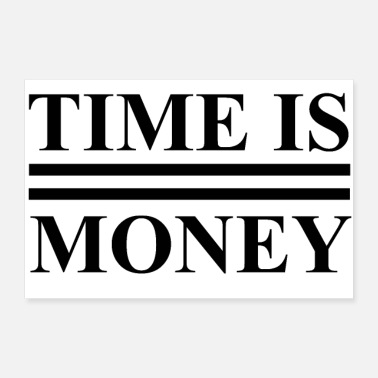 Strip Time Is Money Black Text - Poster