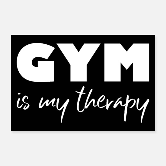 Studio Posters - gym fitness workout quote motivation poster - Posters white