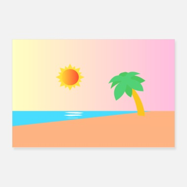Illustration palm beach illustration - Poster