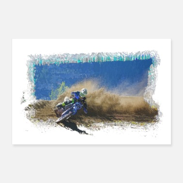 Bike One Good Turn - Motocross Racing - Poster