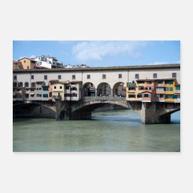 Italy Bridges of Florence Italy - Poster