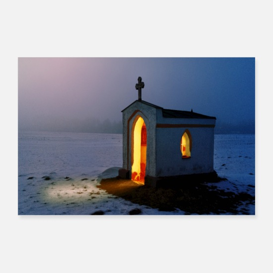 Catholic Posters - Small Church - Posters white