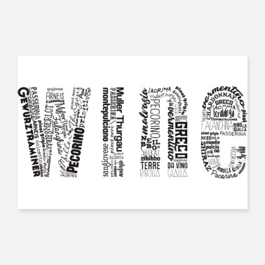 Wine Wine Tag Cloud - Poster 36x24