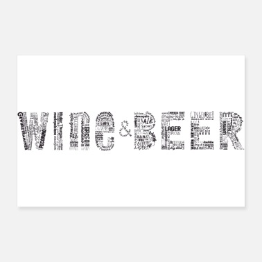 Shot Wine&Beee Tag Cloud - Poster 36x24