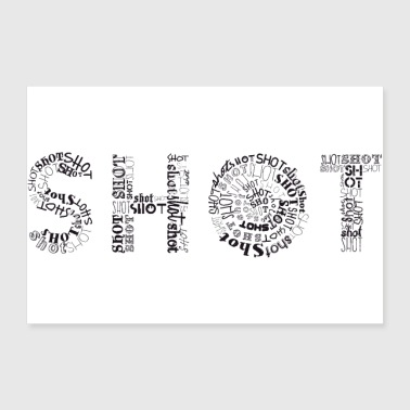 Shots Tag Cloud - Poster 36x24