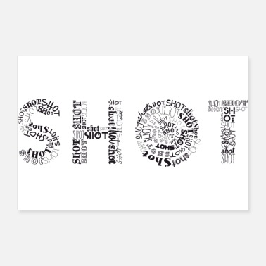 Shot Shots Tag Cloud - Poster 36x24