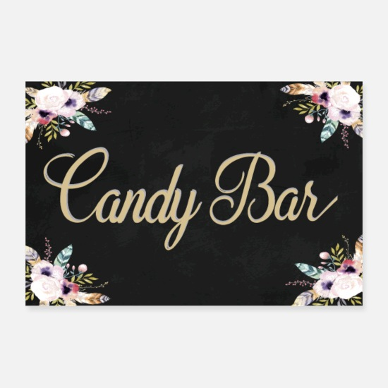 Bride Posters - CANDY BAR BOHO BLACK - Posters white