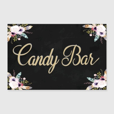 CANDY BAR BOHO BLACK - Poster 36x24