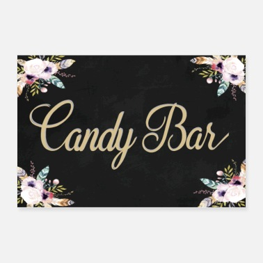 Cooking Desserts CANDY BAR BOHO BLACK - Poster