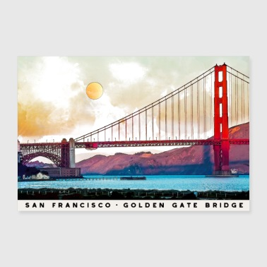 San Francisco Golden Gate Bridge Architecture USA - Poster 36x24