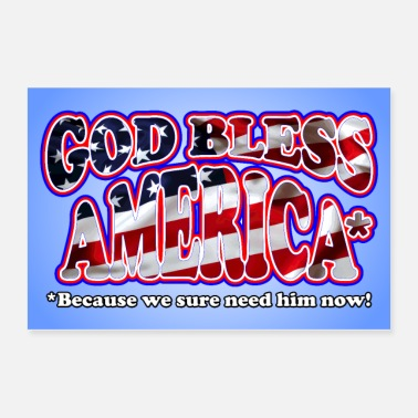America God Bless America Poster - Poster 36x24