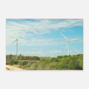 Countryside Windmills in the countryside - Poster