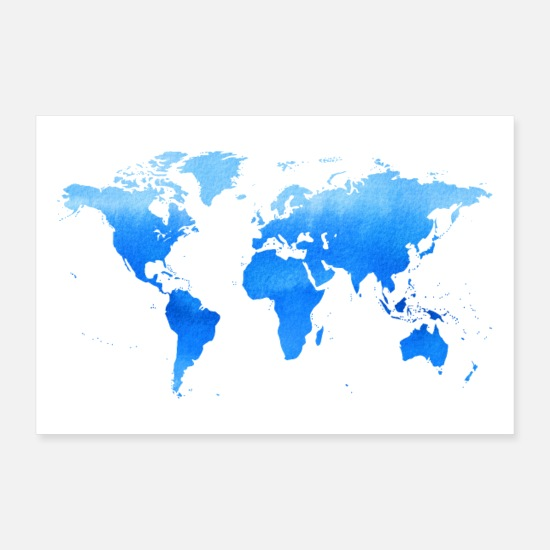 World Posters - Travel - World Map - Posters white