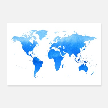World Travel - World Map - Poster