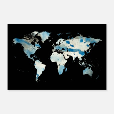 Stitch World map - Poster