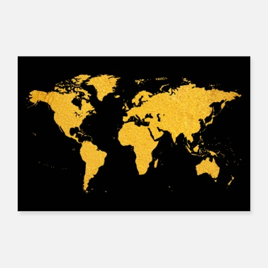 Continent World map earth continents countries - Poster