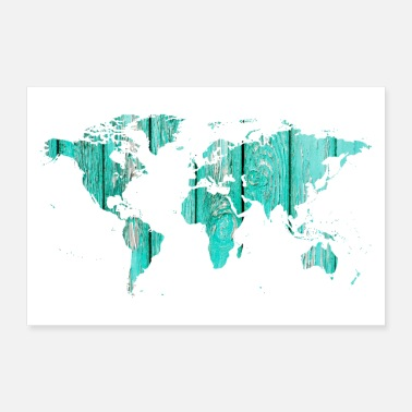 Maps World map - Poster