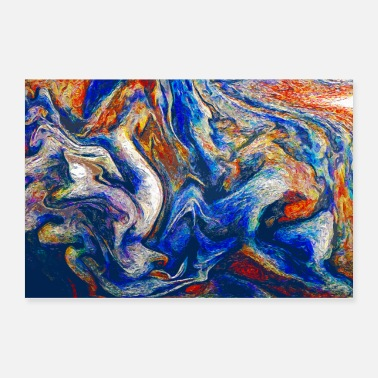 Flow Color Flow Of Emotion - Abstract Art - Poster