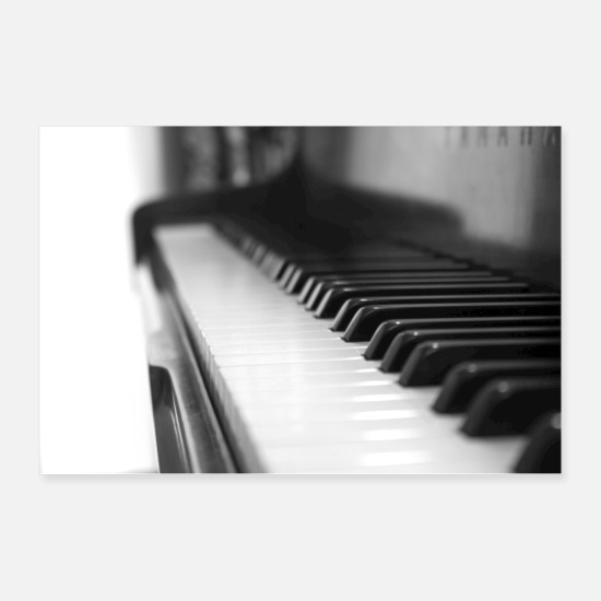 Black Posters - Piano - Posters white