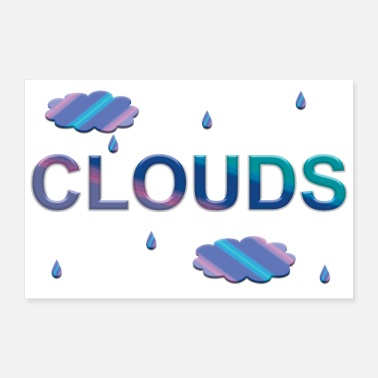 Cloud CLOUDS in Gradient - Poster