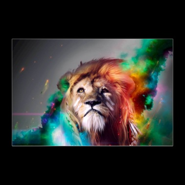 Galatic Lion Poster - Poster 36x24