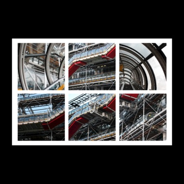 Centre Pompidou in Paris (France) - Poster 36x24