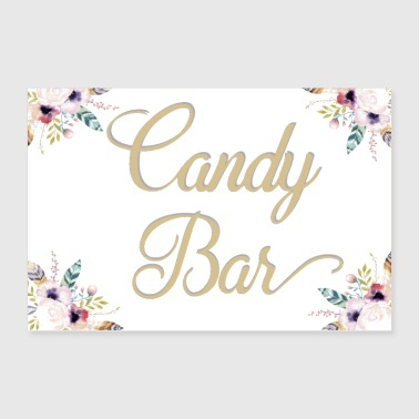 CANDY BAR BOHO WHITE - Poster 36x24