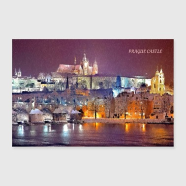 prague castle pastel wall art - Poster 36x24