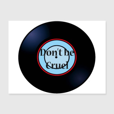 Don't Be Cruel Oldies Hit Song Titles Record Album - Poster 24x18