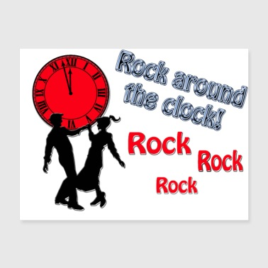 Rock Around The Clock Song Title Designs - Poster 24x18