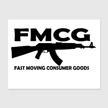 FMCG fast moving consumer goods (black text) - Poster 24x18