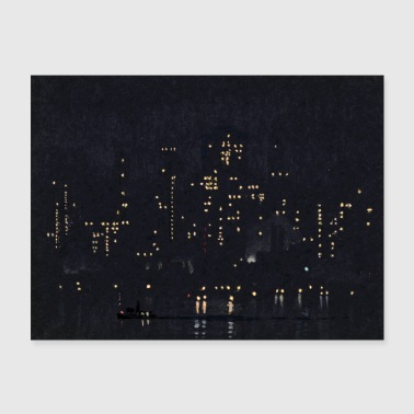 Night Lights of Manhattan - Poster 24x18