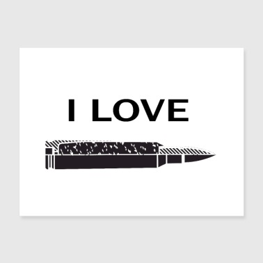 I love guns bullet military style army grunt style - Poster 24x18