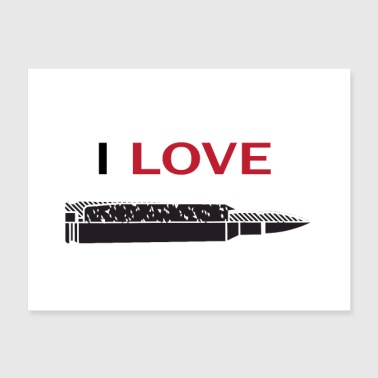 I love guns bullet army military style grunt style - Poster 24x18