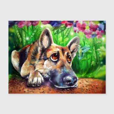 German Shepherd - Poster 24x18