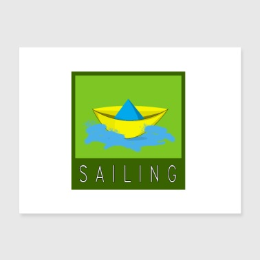 Sail - Sail Design - Boat - Water - Sailboat - Poster 24x18